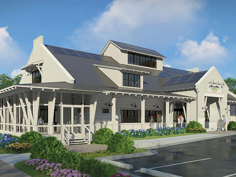 Lowcountry Fresh Market & Cafe Exterior Rendering | Bluffton, SC